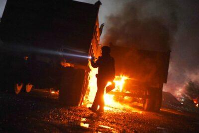 Camiones y maquinarias fueron destruidos en nuevo ataque incendiario en La Araucanía