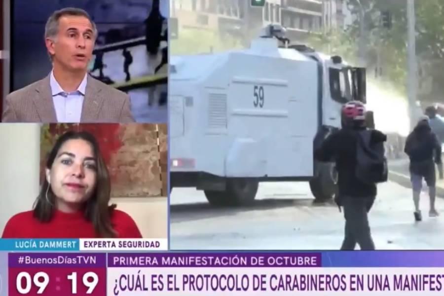 VIDEO | El cruce entre general en retiro y experta en seguridad por Carabineros