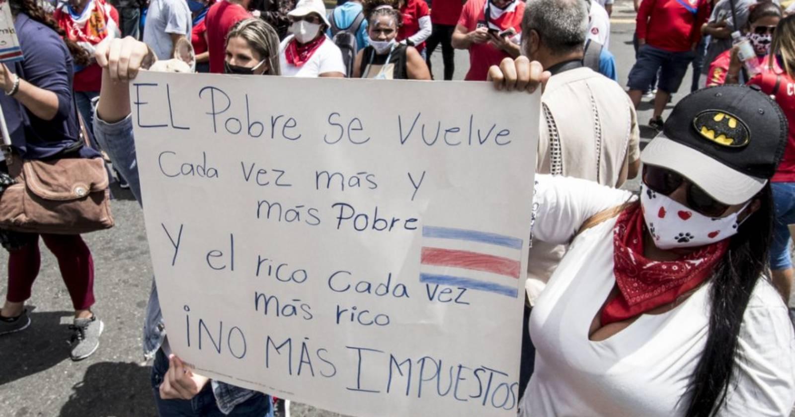 """El """"estallido social"""" que sacude a Costa Rica en medio de la crisis sanitaria"""