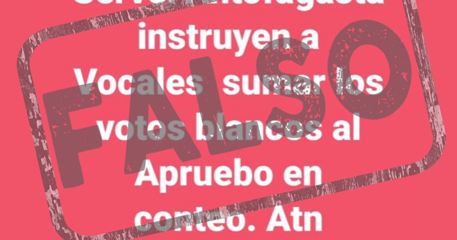 CHEQUEO: todas las noticias falsas sobre el plebiscito