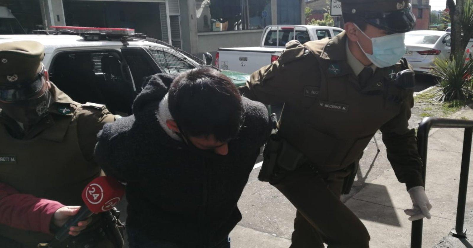 """Detienen a """"El Cazuela"""": acumula 119 arrestos en Temuco"""