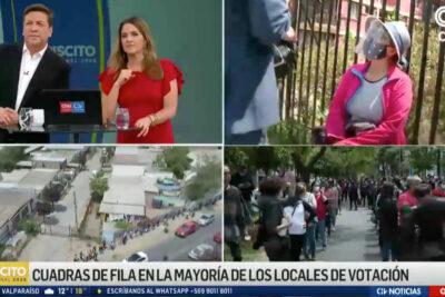Chilevisión se impuso en sintonía durante la cobertura matinal del plebiscito