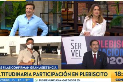 La competitiva transmisión de los canales de TV durante el plebiscito