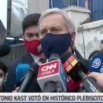 VIDEO – José Antonio Kast hace llamado a votar por el Rechazo pese a estar prohibido