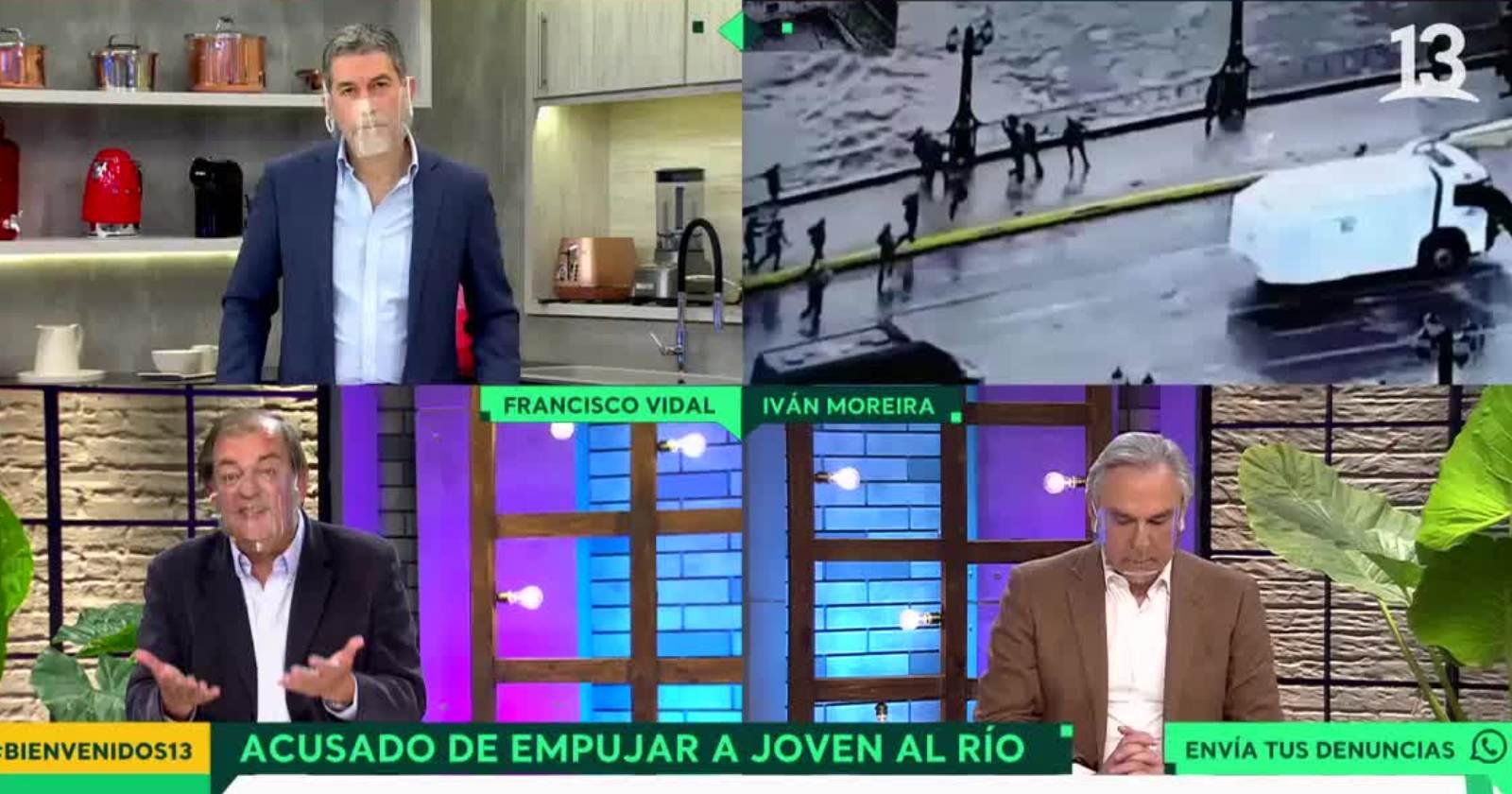 """VIDEO – Los dichos de Iván Moreira sobre joven que cayó al río Mapocho: """"Era un violentista que iba a ser detenido por Carabineros"""""""
