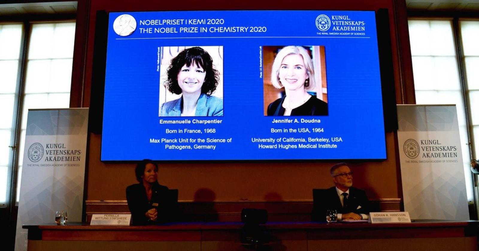 Dos mujeres genetistas ganan el Premio Nobel de Química