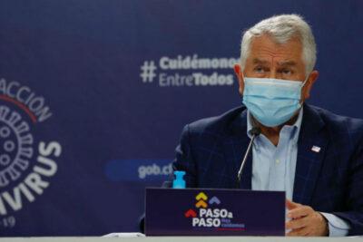 Ministro Paris: positividad en la Región Metropolitana llegó al 3%