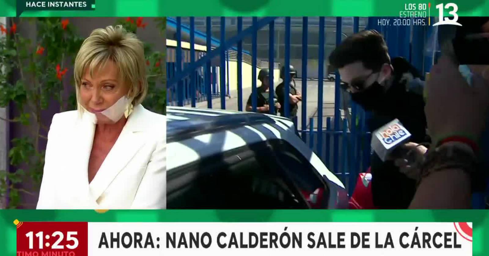 Raquel Argandoña se quiebra en vivo tras enterarse que Nano Calderón salió de Santiago 1