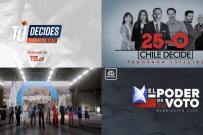La televisión chilena se alista para el plebiscito