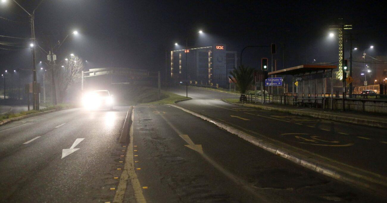 Concepción durante el toque de queda. (Foto: Agencia Uno)
