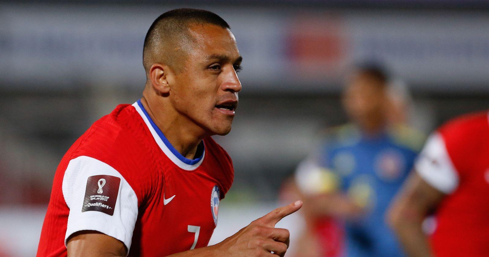 Alexis Sánchez aún sigue en duda para jugar como titular ante Perú