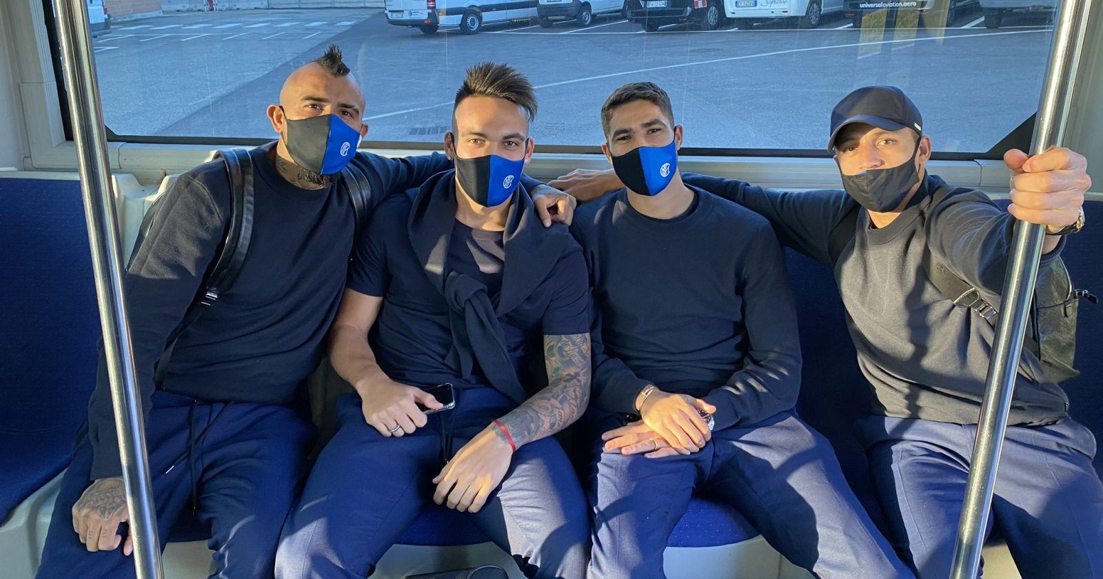 Alexis Sánchez y Arturo Vidal viajan a España con el Inter para enfrentar a Real Madrid