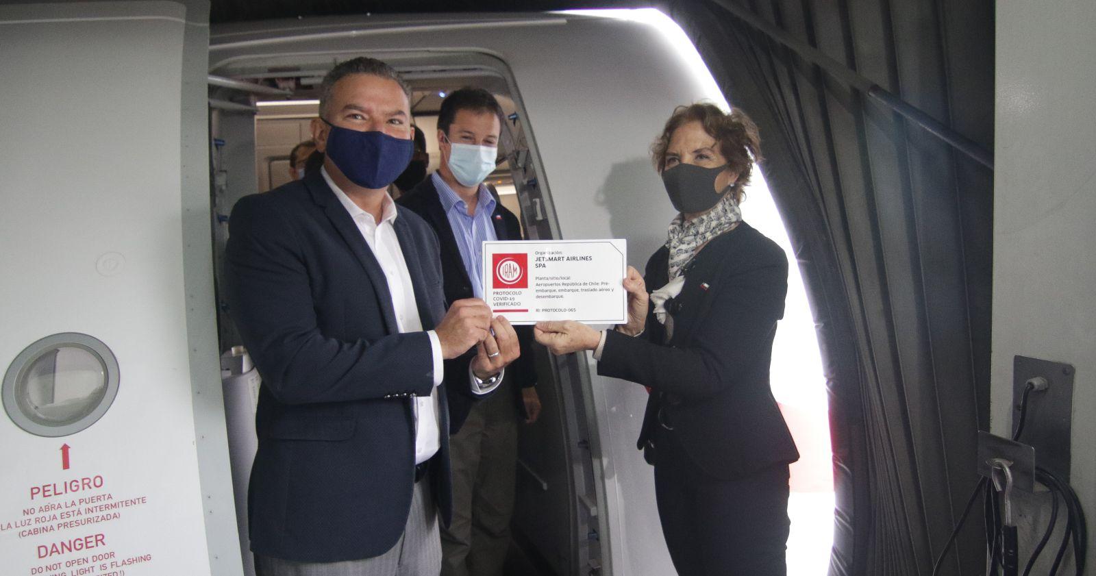 """""""Los detalles del protocolo para la apertura de fronteras en el Aeropuerto de Santiago"""""""