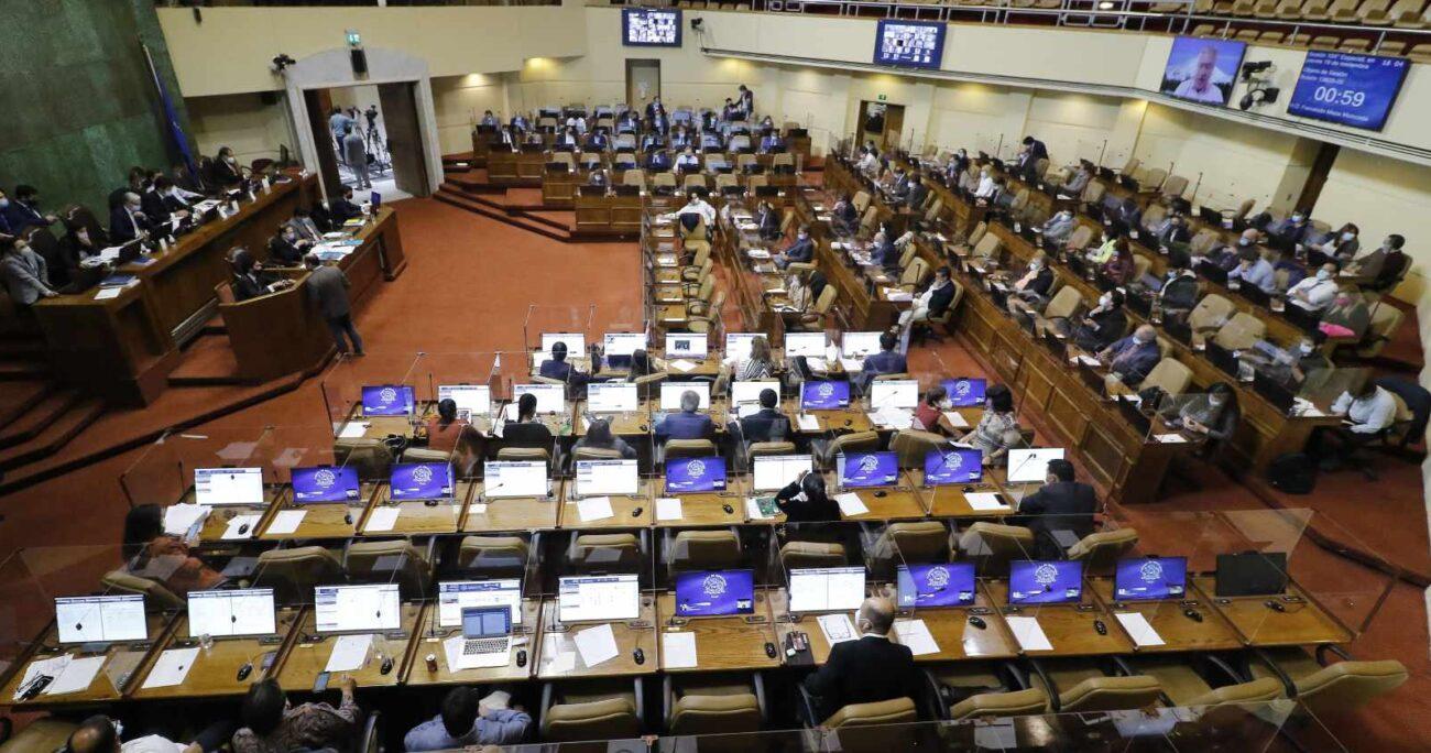 Cámara de Diputados durante votación del proyecto. Fuente: Agencia Uno.