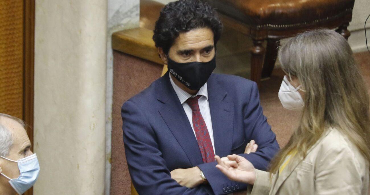 El ministro Ignacio Briones durante la discusión en el Senado. Foto: Agencia Uno.