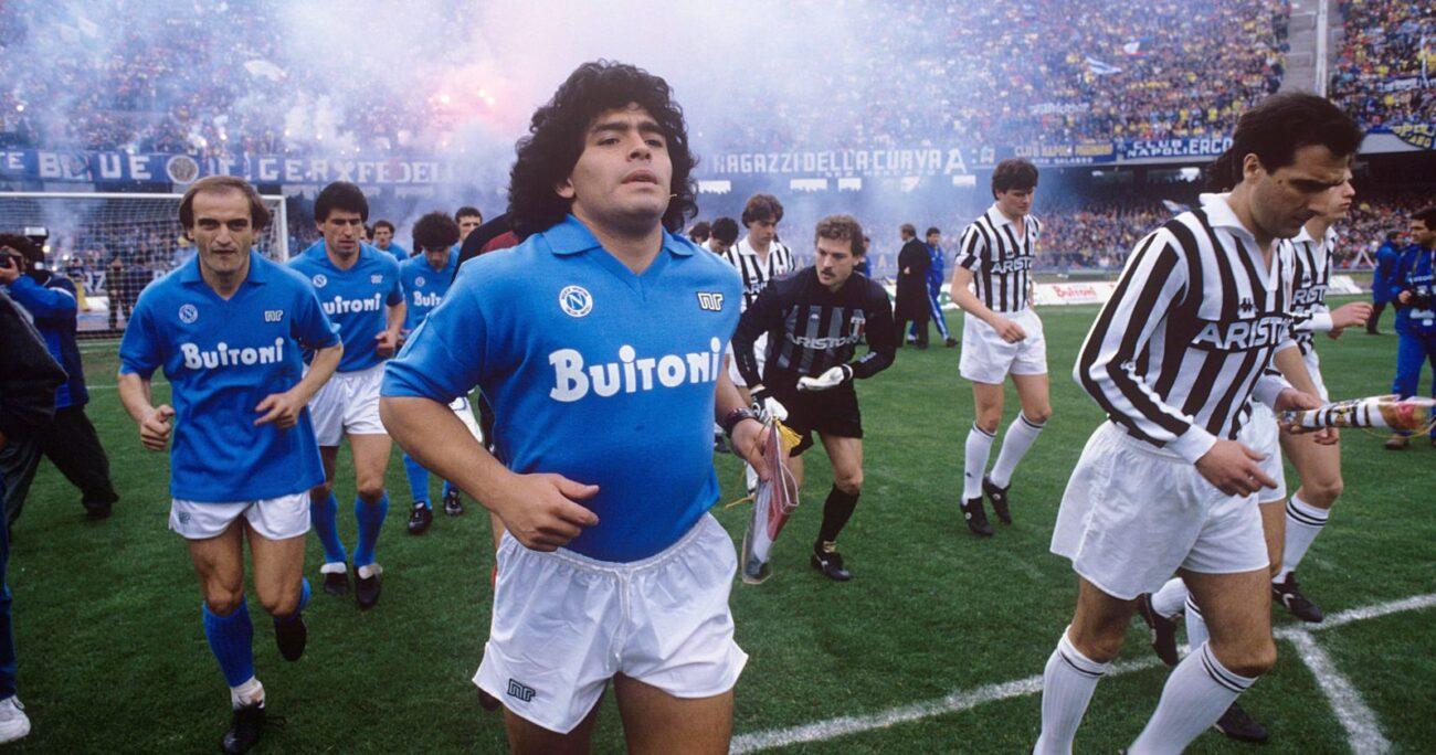 Maradona durante su época como jugador. (Foto: Agencia Uno)