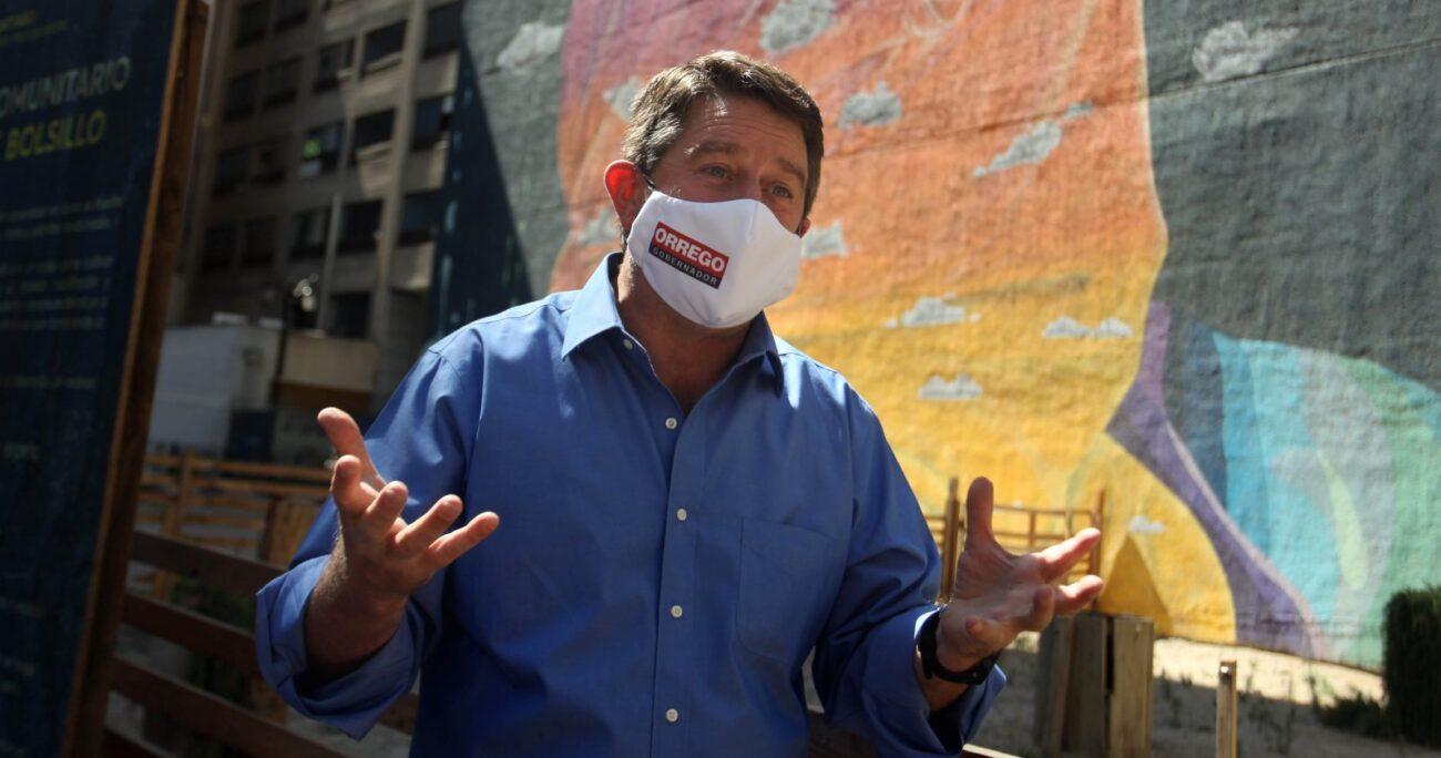 Claudio Orrego durante su campaña por primarias a gobernador regional. Fuente: Agencia Uno.