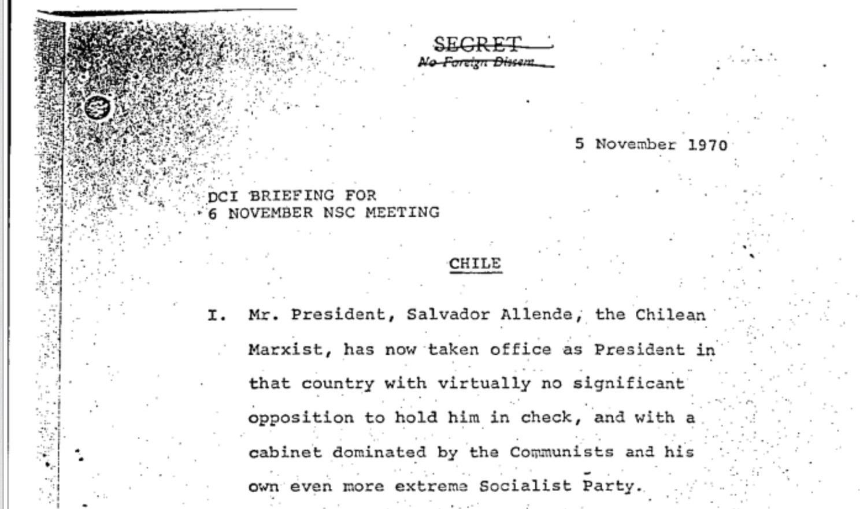 Nuevos archivos revelan acciones de EE.UU. para derrocar a Salvador Allende