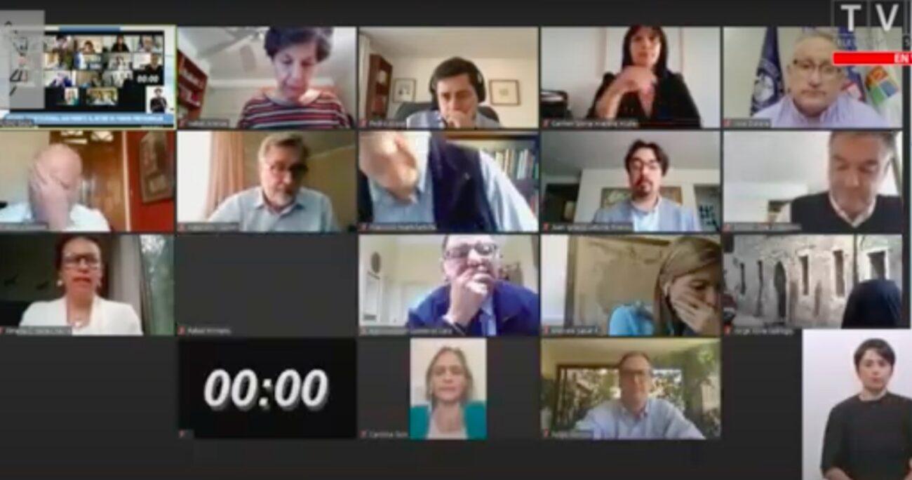 Discusión del Senado respecto al segundo retiro del 10% de la oposición. Fuente: Canal de Youtube del Senado.