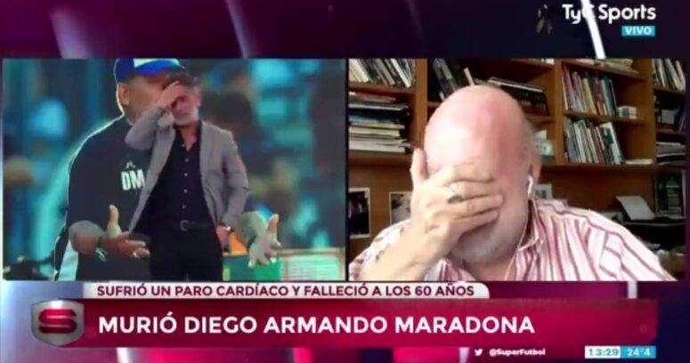 """""""Murió el fútbol"""": Horacio Pagani inconsolable tras muerte de Maradona"""