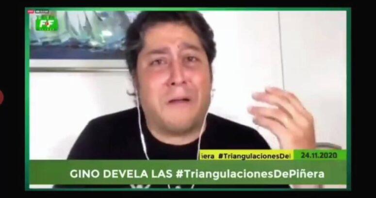 """Con llanto incluido: Gino Lorenzini acusa """"triangulación"""" de Piñera y """"persecución"""" a Felices y Forrados"""