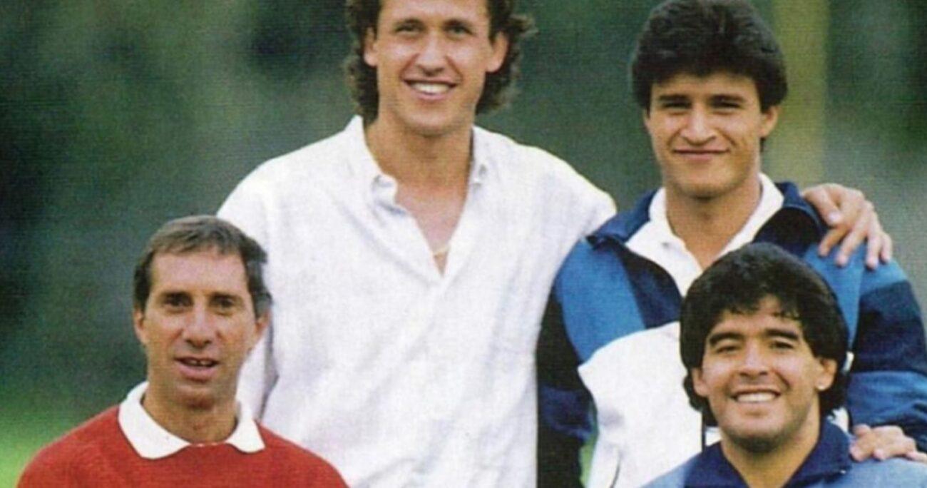 Carlos Bilardo, Jorge Valdano, Claudio Borghi y Diego Maradona. (Foto: Instagram/Claudio Borghi)