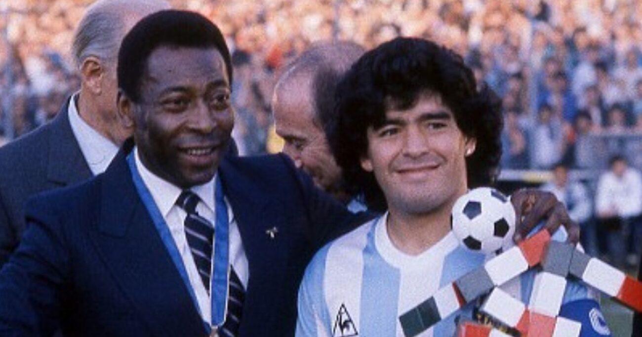 El brasileño junto al referente trasandino. (Foto: Instagram/Pelé)