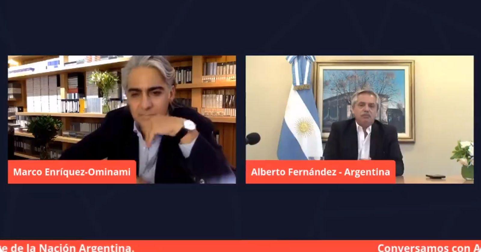 VIDEO – Alberto Fernández dialoga con ME-O y entrega avances de la vacuna en Argentina