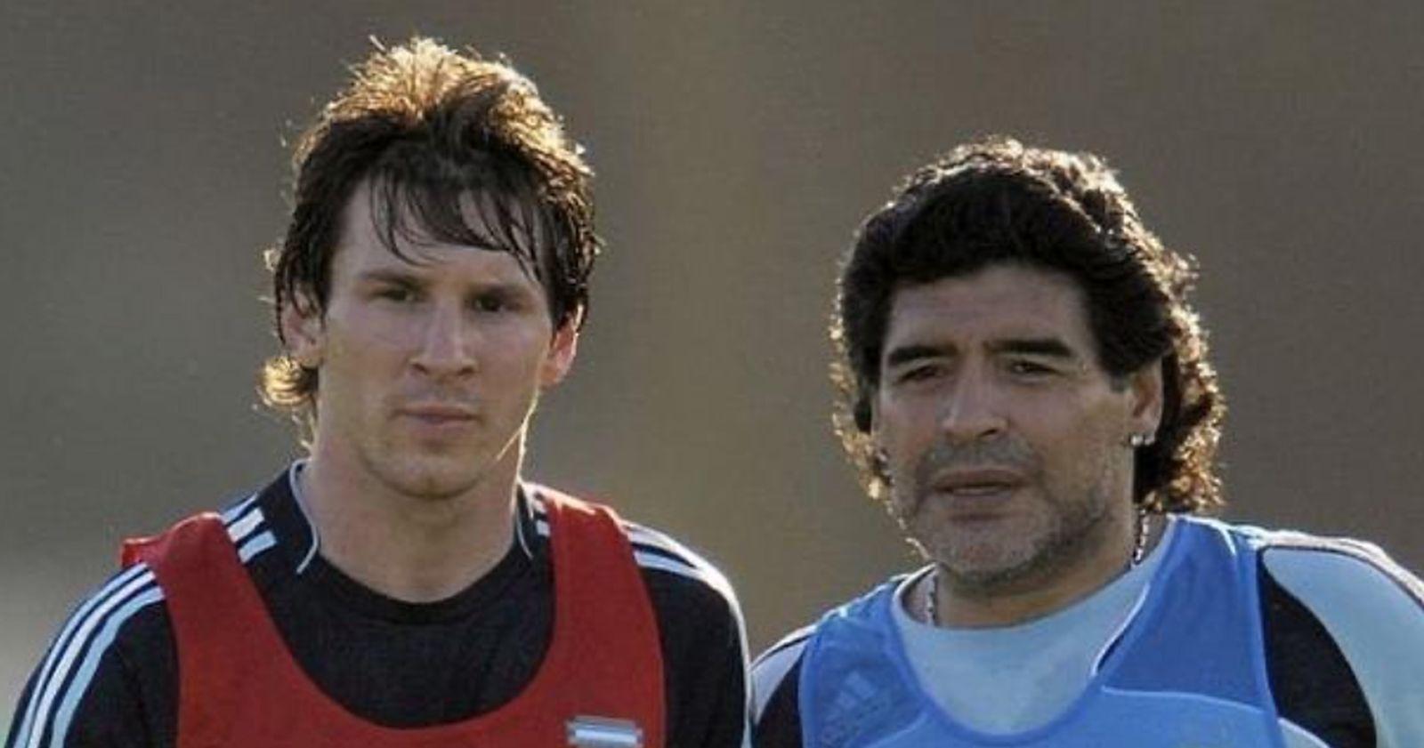 """El mensaje de Lionel Messi a Diego Armando Maradona: """"Te queremos ver bien lo antes posible"""""""