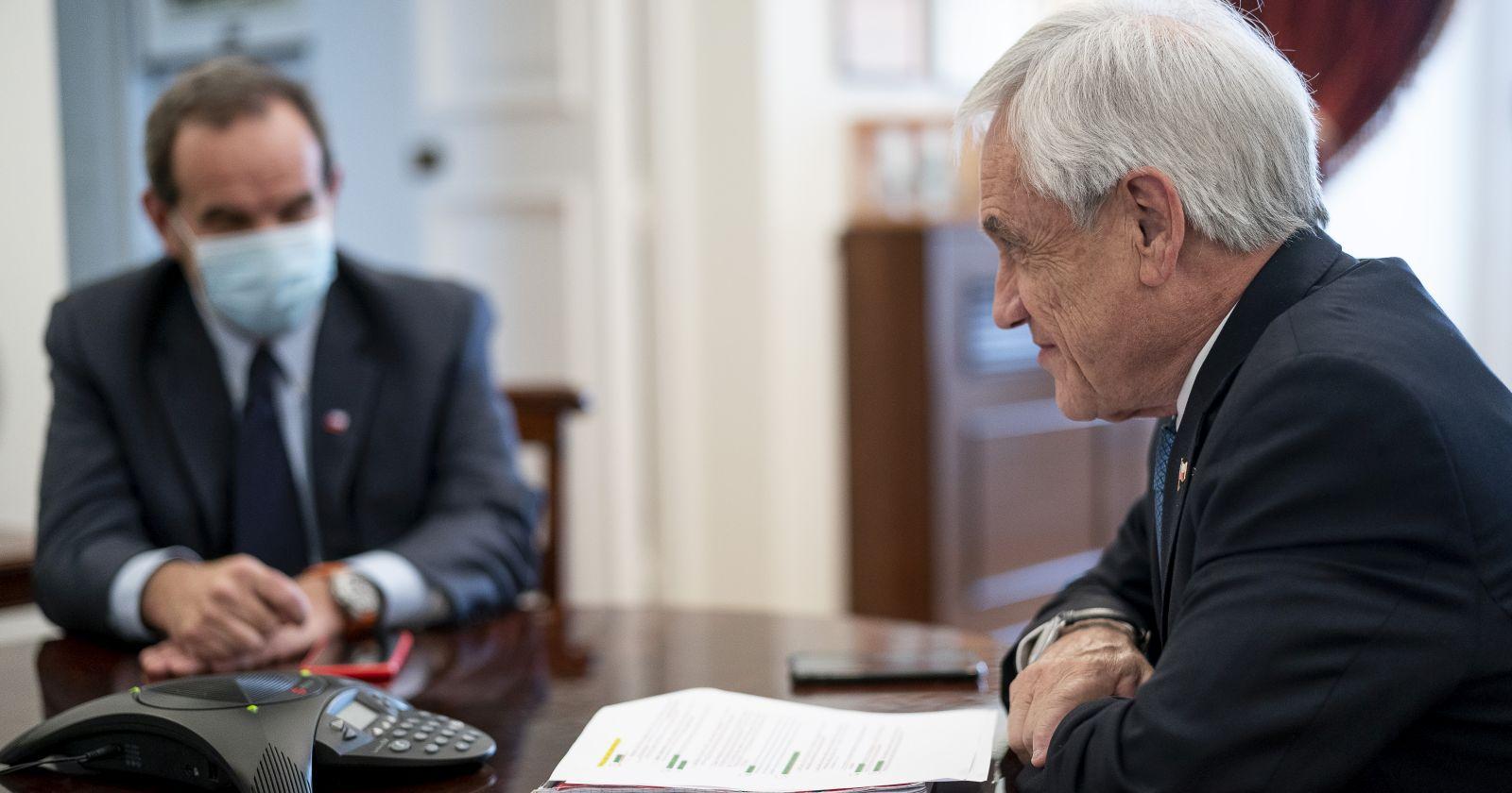 """""""Presidente Piñera conversó con Joe Biden sobre la vacuna y el cambio climático"""""""