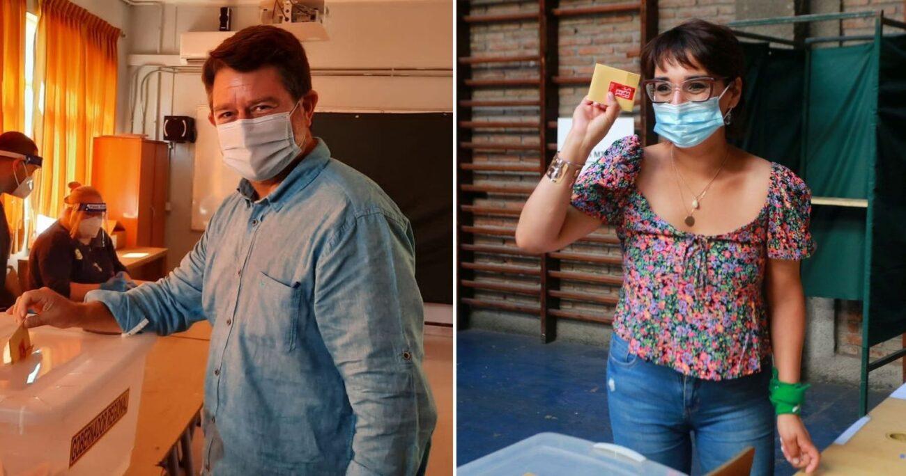 Claudio Orrego y Karina Oliva. (Foto: Agencia Uno)