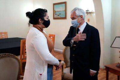 Presidente Piñera llegó a La Araucanía y visitó a la familia de Eugenio Nain