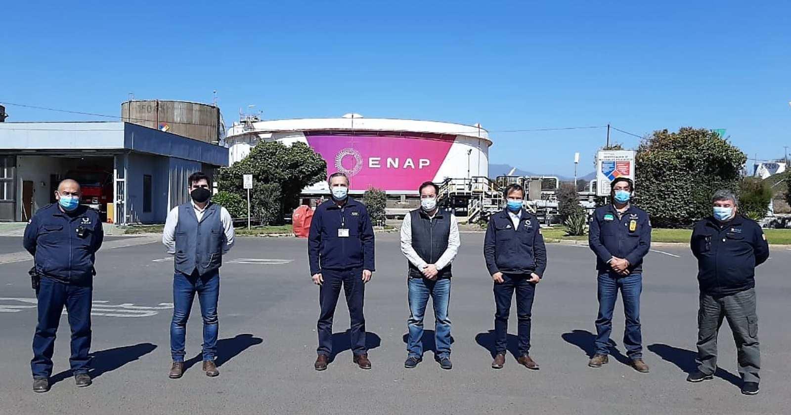 Armada renueva por segundo año el Certificado de Seguridad del Terminal Marítimo de Enap en Quintero