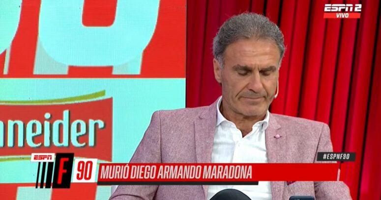 """VIDEO – """"Se nos fue el capitán"""": el desconsuelo de Óscar Ruggeri al enterarse de la muerte de Maradona"""