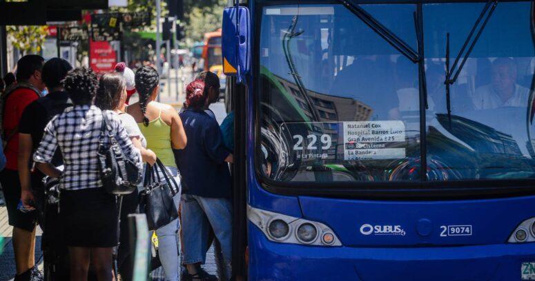 """""""Fin de año: MTT anuncia nuevos horarios en el transporte público metropolitano"""""""