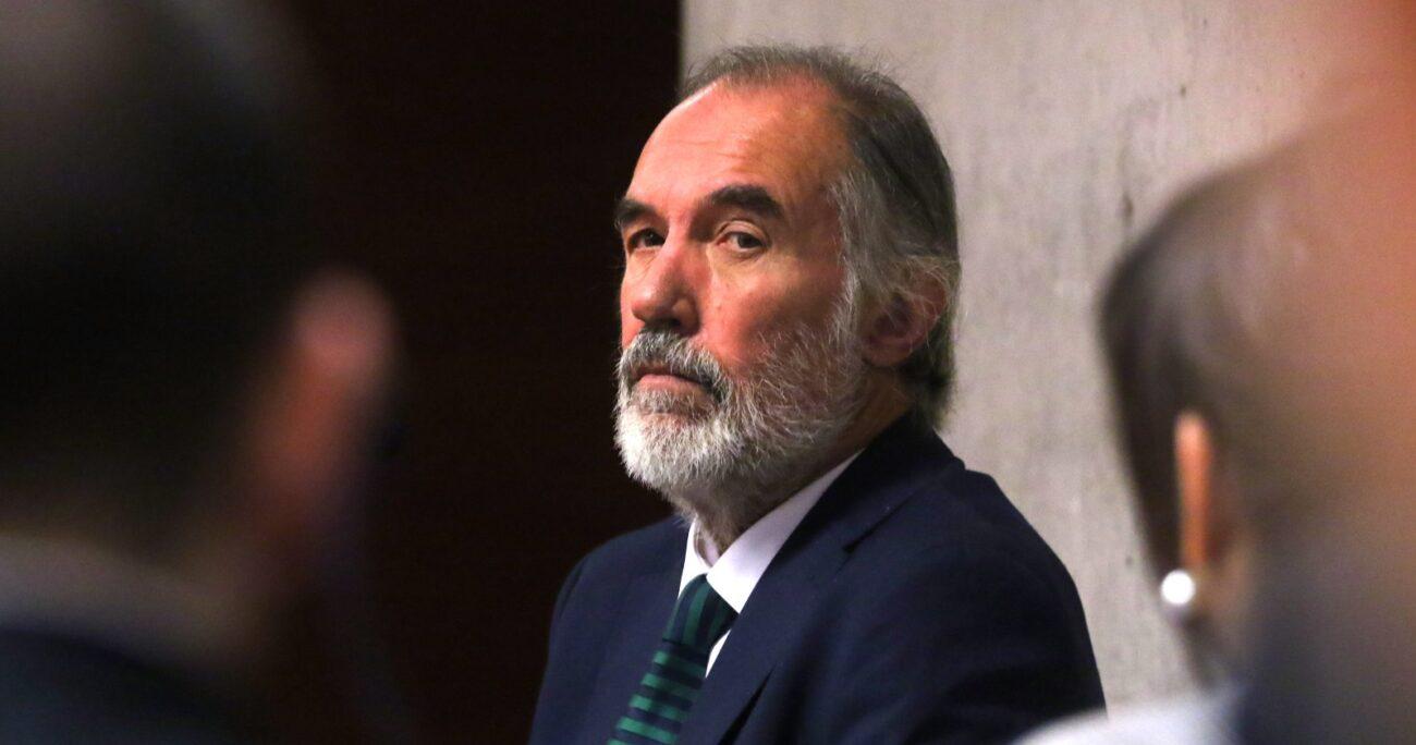 Jaime Orpis en el Centro de Justicia. Fuente: Agencia Uno.