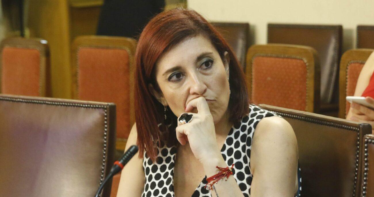 Patricia Muñoz en el Congreso. Fuente: Agencia Uno.