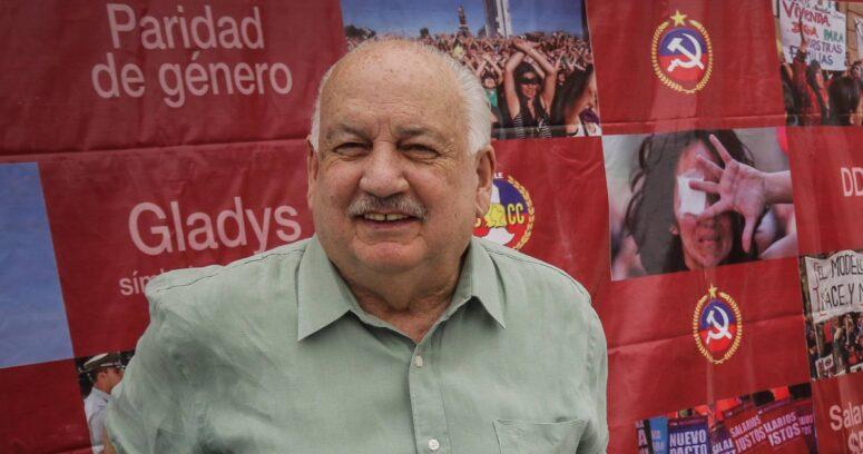 """Teillier por presidencial en la oposición: """"Estamos decididos a llevar hasta el final nuestra candidatura"""""""