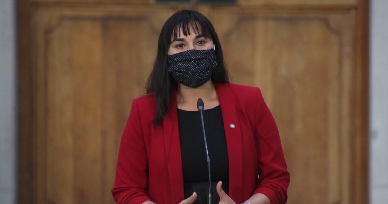 Izkia Siches en La Moneda. Fuente: Agencia Uno.