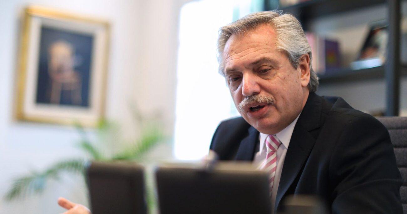 El presidente Alberto Fernández entregó el anuncio durante este jueves. Foto: Agencia Uno