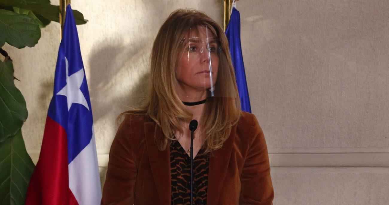 Ximena Rincón en la Cámara Alta. Fuente: Agencia Uno.