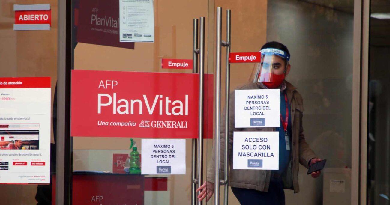 Frontis AFP Plan Vital. Foto: Agencia Uno