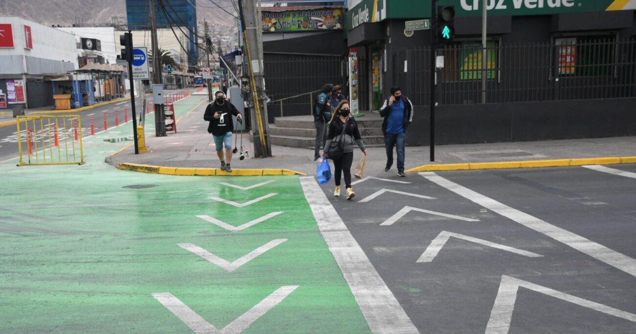 Antofagasta durante la pandemia del coronavirus. Foto: Agencia Uno