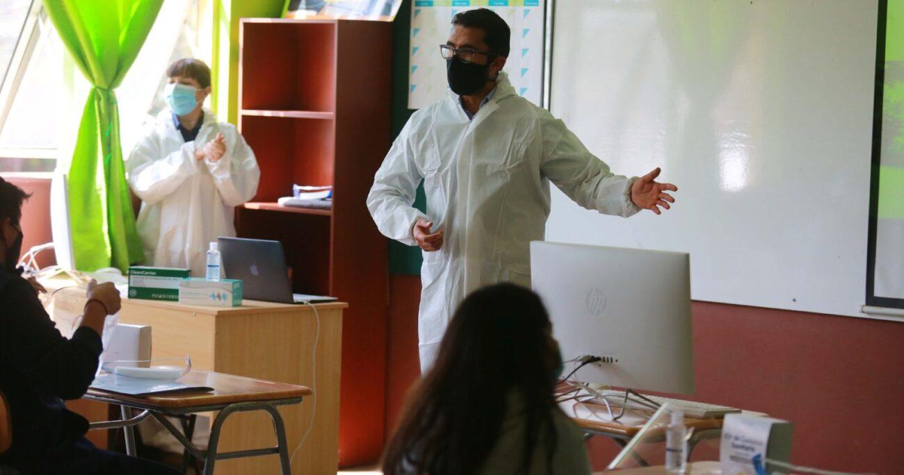 Clases en medio de la pandemia. Foto: Agencia Uno-