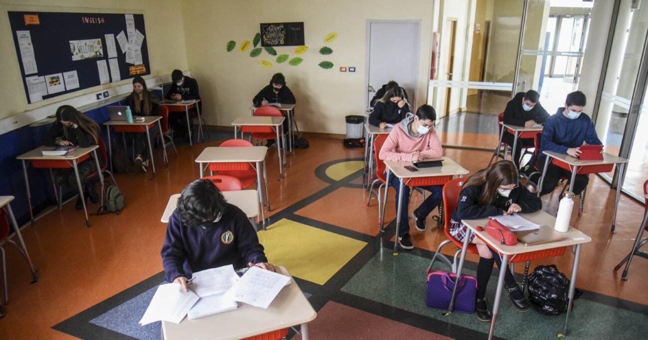 Clases en pandemia. Foto: Agencia Uno.