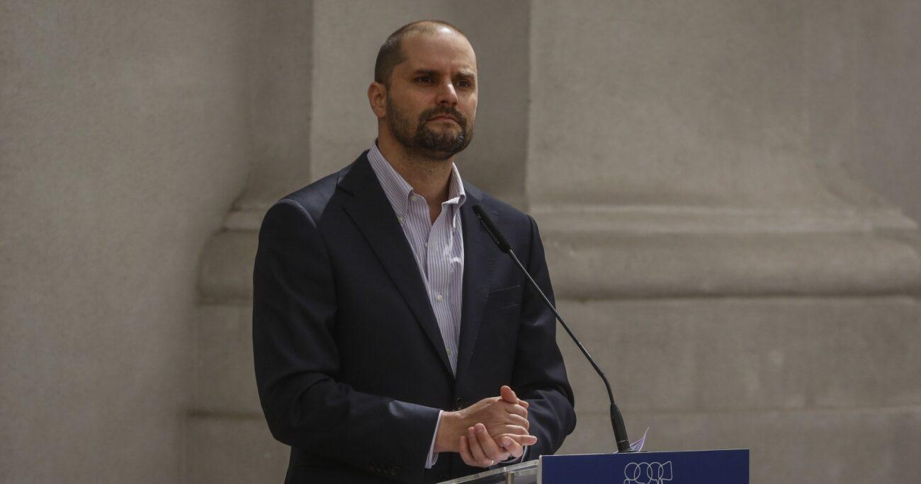 Jaime Bellolio en La Moneda. Fuente: Agencia Uno.