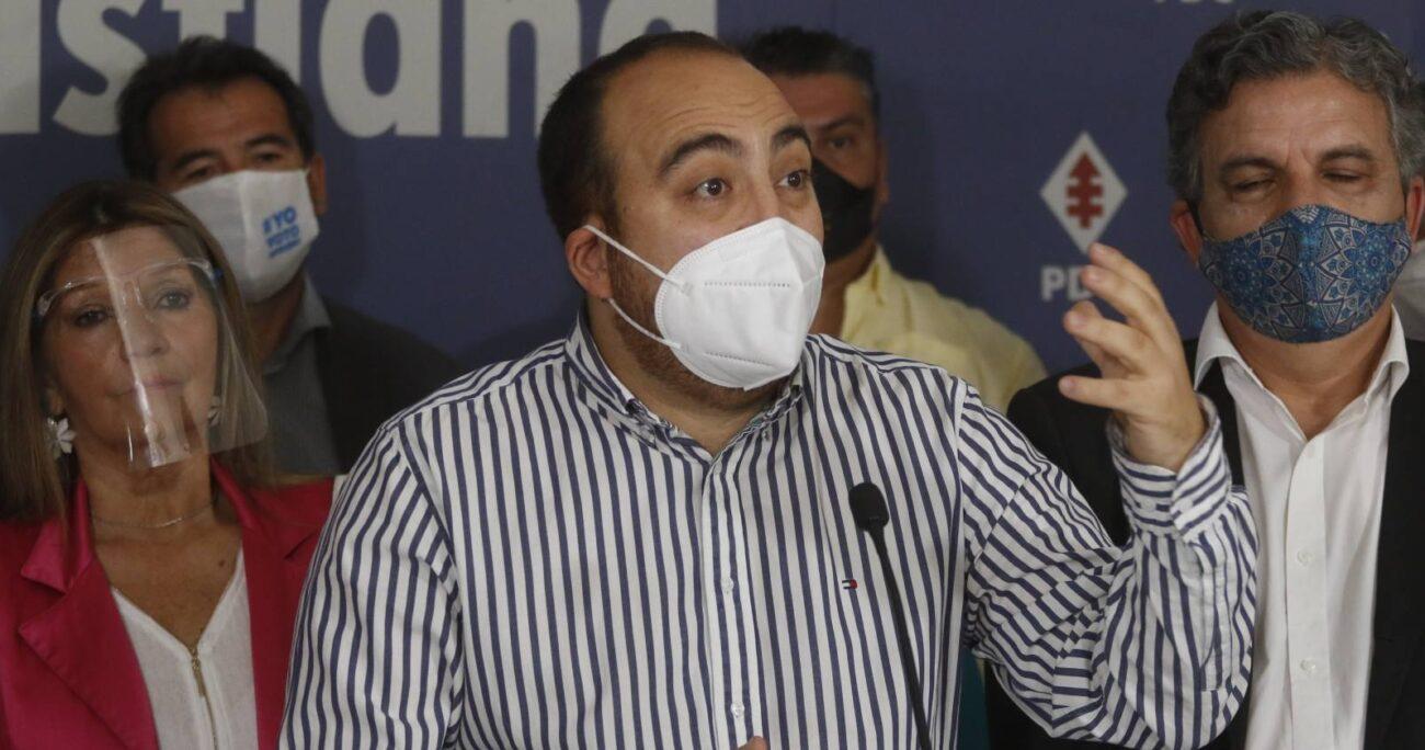 Chahín durante congreso de la DC. Fuente: Agencia Uno.