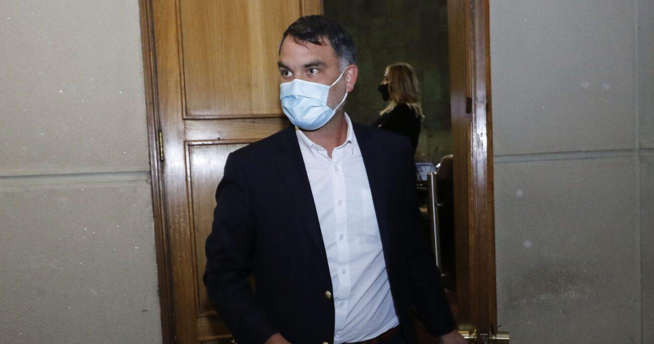 Javier Macaya en la Cámara de Diputados. Fuente: Agencia Uno.