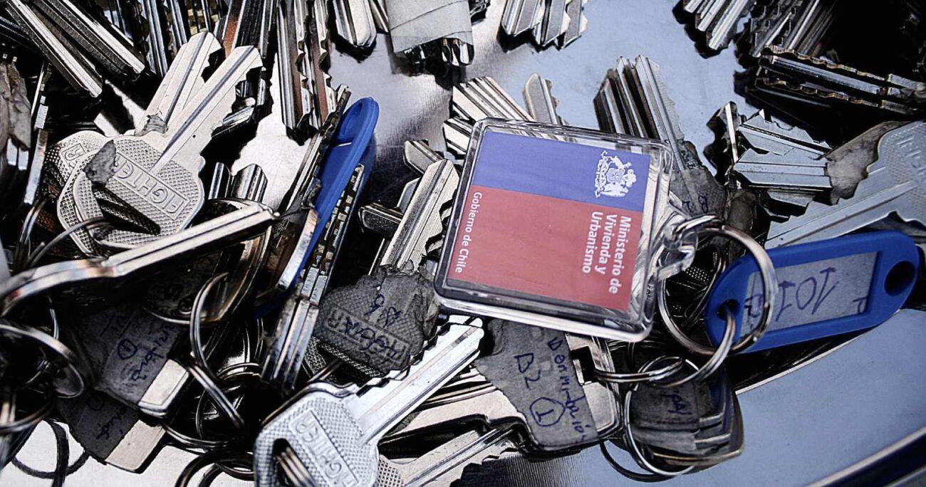 Llaves de subsidio habitacional. Foto: Agencia Uno