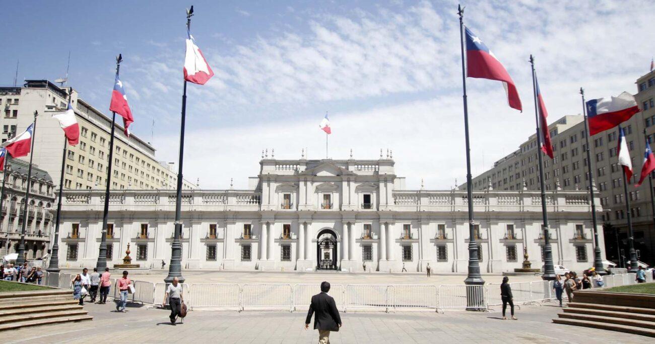 Frontis de La Moneda. Fuente: Agencia Uno.